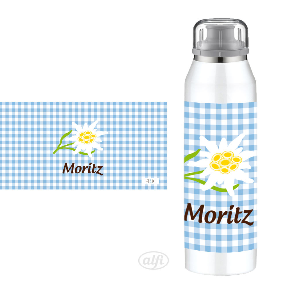 personalisierte Alfi Isolierflasche Floral mint