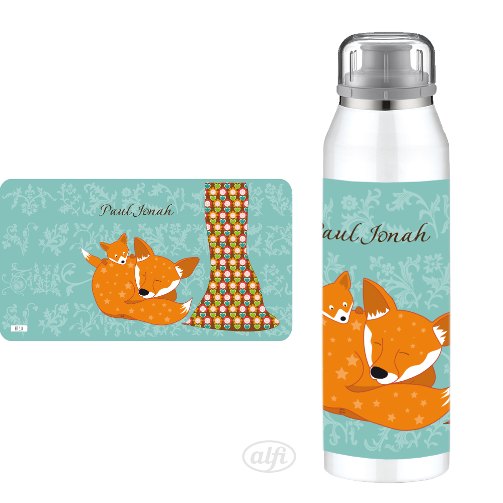 Alfi Isolierflasche Floral Fuchs