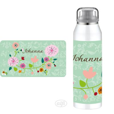 Alfi Isolierflasche Floral mint