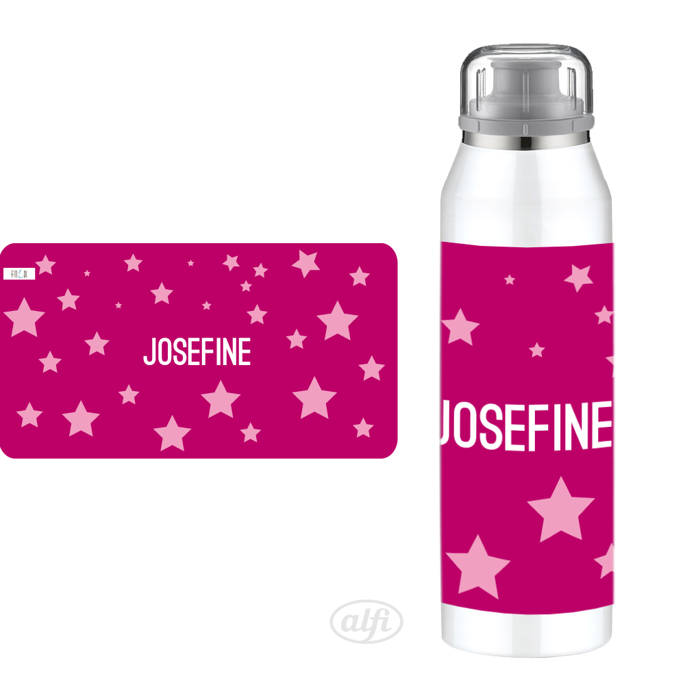 personalisierte Alfi Isobottle Sterne pink