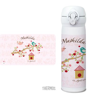 Thermos Isolierflasche Floral rose