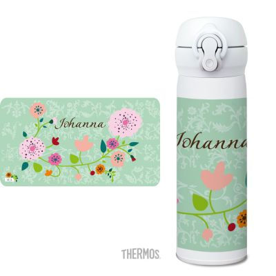 Thermos Isolierflasche Floral mint