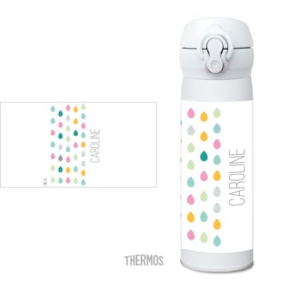 Thermos Isolierflasche Tropfen rose