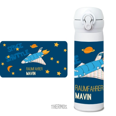 Thermos Isolierflasche Spaceshuttle