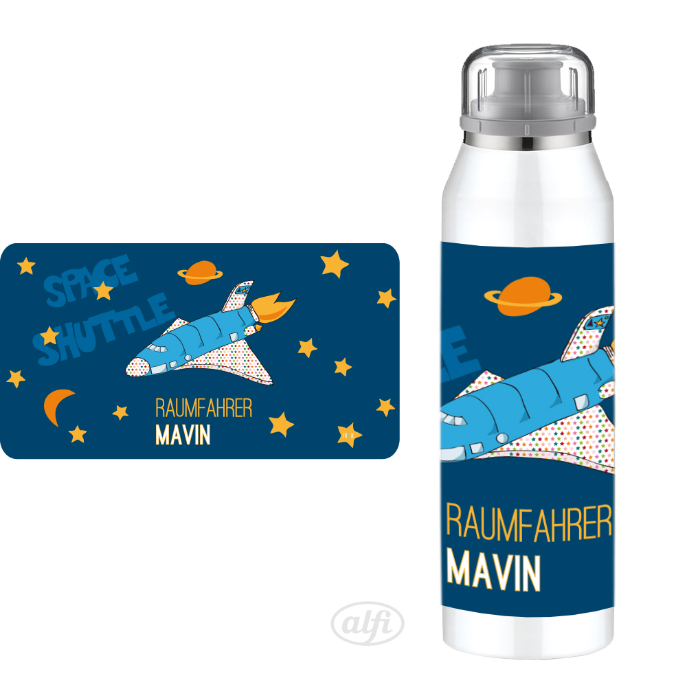 Alfi Isolierflasche Spaceshuttle mit eigenem Namen